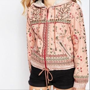 Free People Play My Song Embellished Bomber M